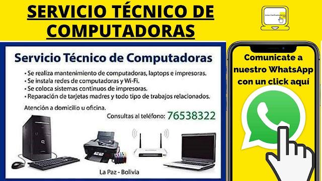 SERVICIO TÉCNICO DE COMPUTADORAS LA PAZ