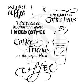 Quietfire Design But First Coffee stamp set