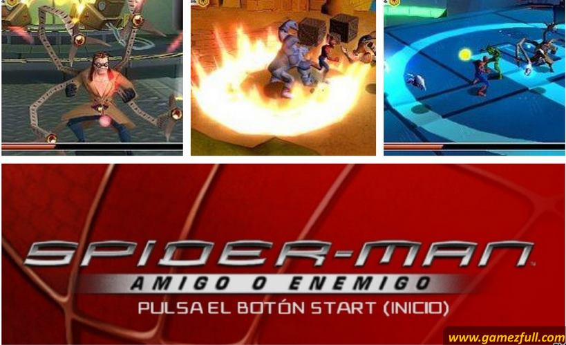 Spider-Man Friend or Foe psp español capturas