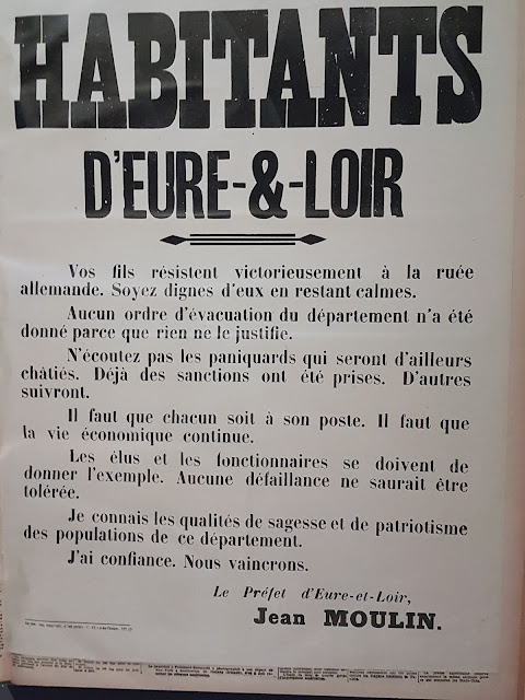 Appel au calme du préfet Jean Moulin à Chartres