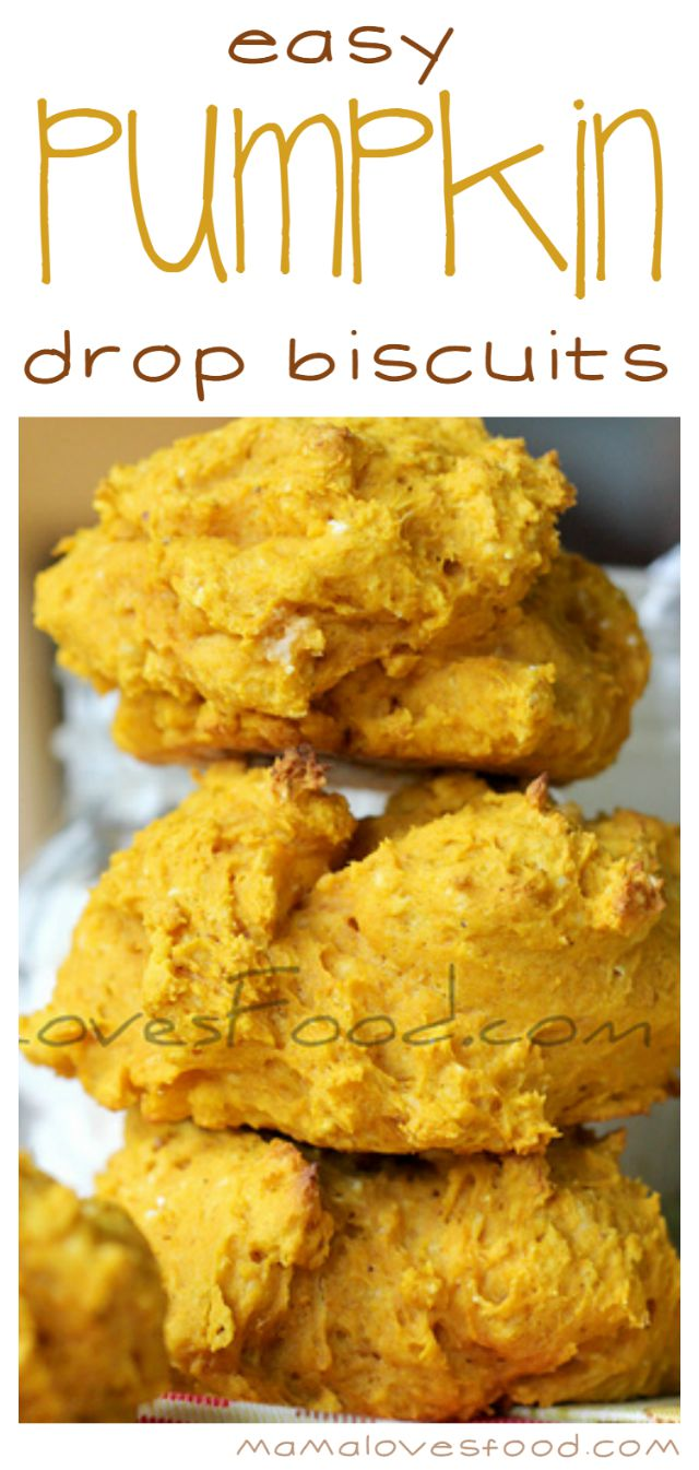 Easy Pumpkin Drop Biscuits Recipe