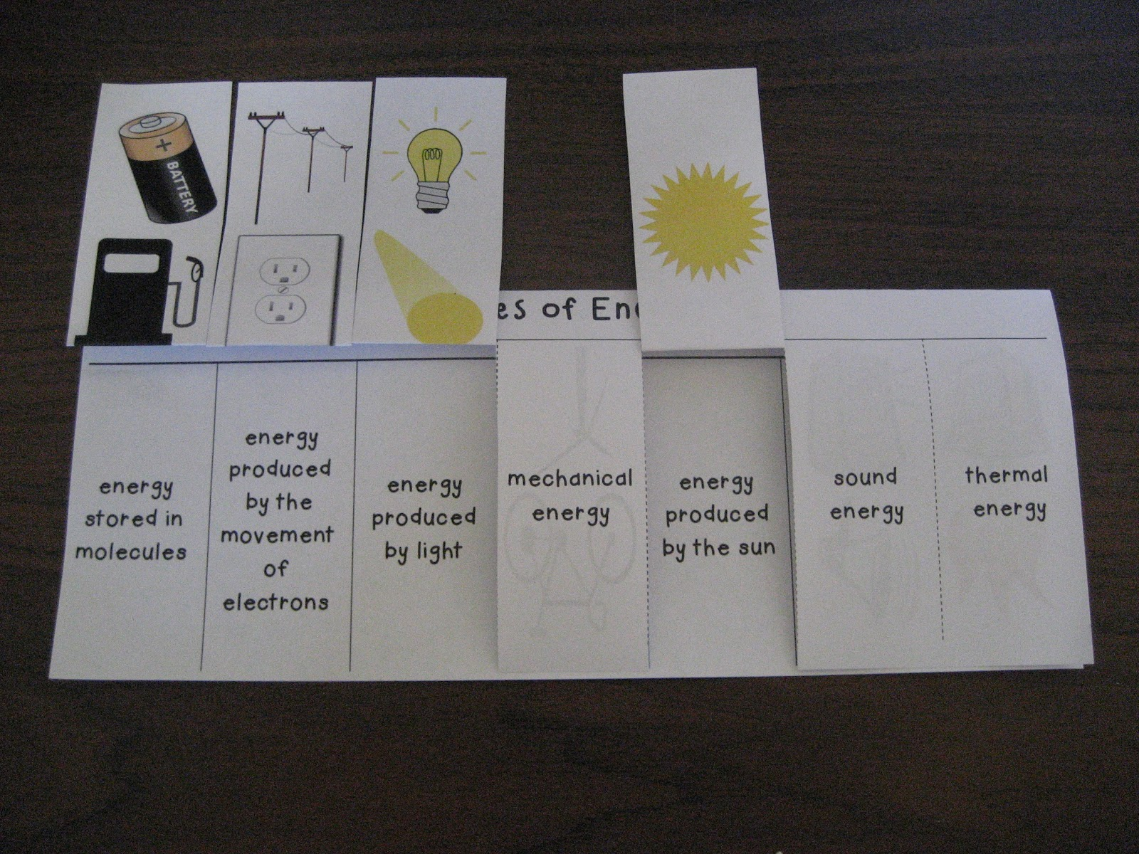Tearless Teaching Forms Of Energy Foldable Graphic Organizer