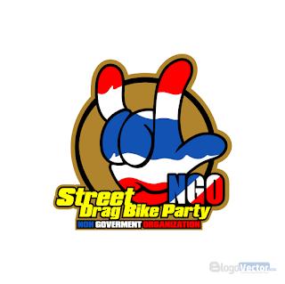 NGO Street Drag Bike Party Logo vector (.cdr)