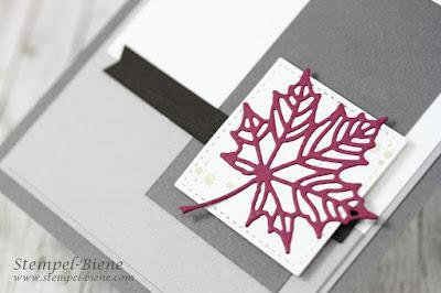 Trauerkarte Stampinup: Jahr voller Farben; Trauerkarte basteln; Herbstkarte; Match the sketch; Stampinup Winterkatalog 2017; Stempel-Biene; Stampinup Recklinghausen
