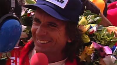 Emerson Fittipaldi em reprodução de imagem da TV ABC.