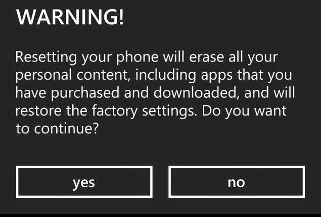 Cara Membackup dan Hapus Semua data Pada Windows Phone