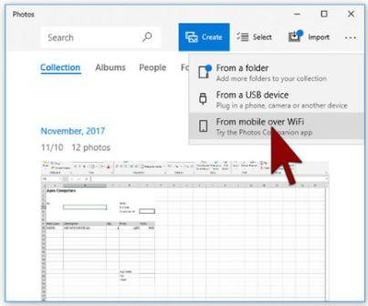 Microsoft new App Transfer Photos from Phone to PC