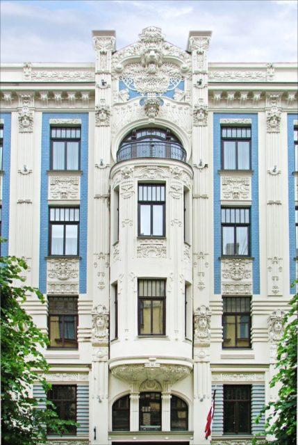 Nag on the lake riga 39 s art nouveau architecture - Modern art nouveau architecture ...