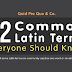52 Common Latin Terms Everyone Should Know #infographic