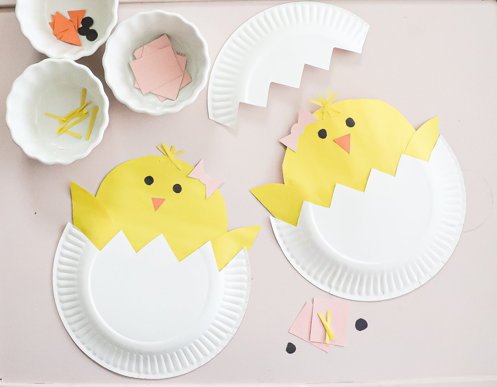 hatching baby chicks paper plate craft