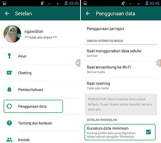 Cara Menghemat Data Internet di WhatsApp Android