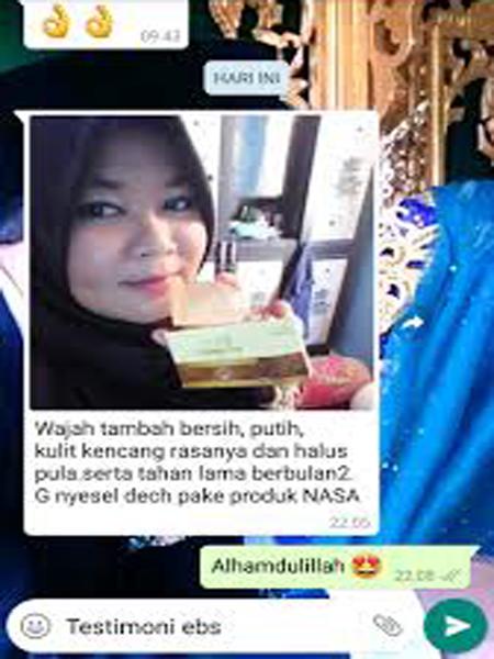 Testimoni Erhsali Brightening Soap Nasa Sabun Herbal Mencerahkan Wajah Garda Remaja