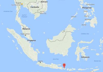 the location of bali island indonesia