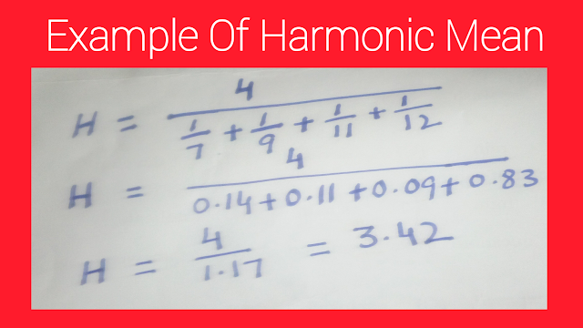 Example of harmonic mean