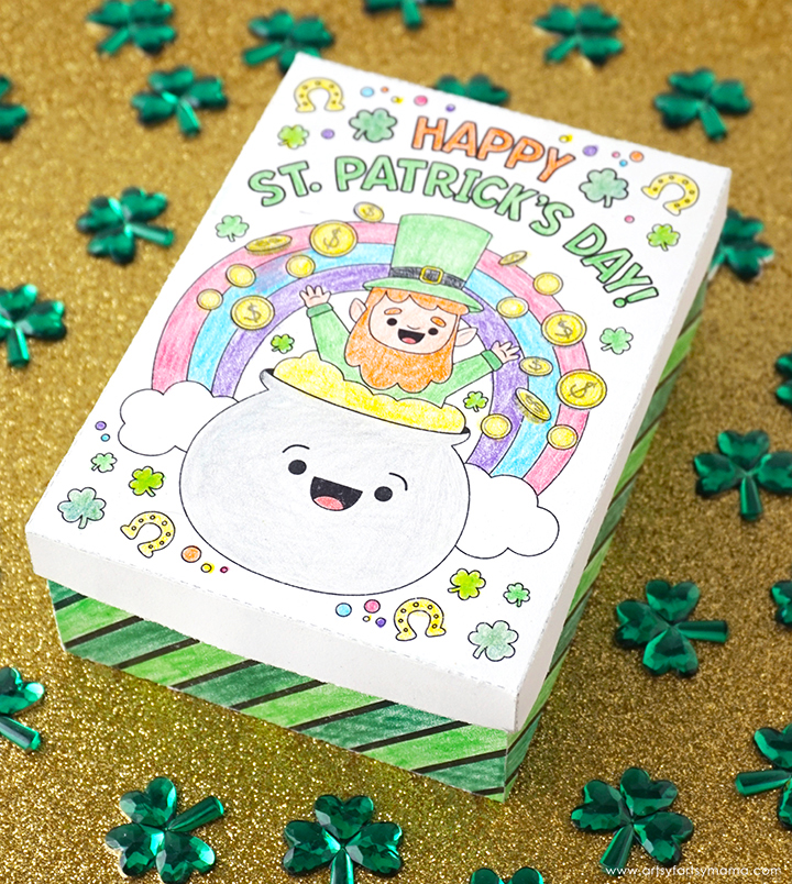 Free Printable St. Patrick's Day Gift Box