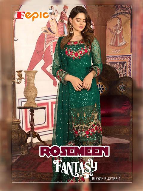 Fepic Rosemeen Fantasy Blockbuster vol 1 pakistani Suits