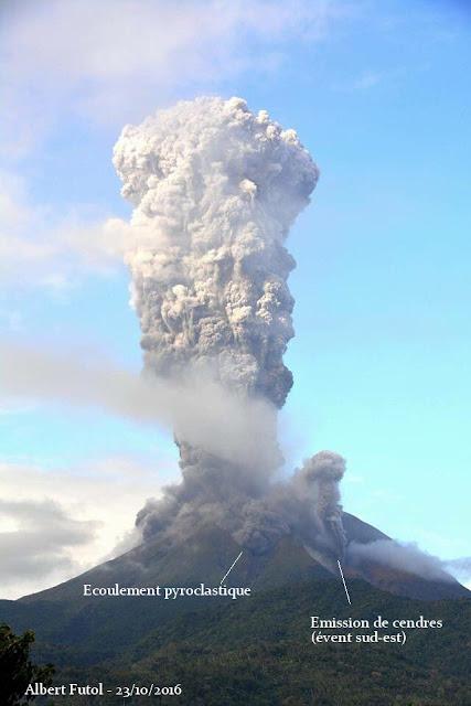 Explosion impressionnante sur le volcan Bulusan aujourd'hui
