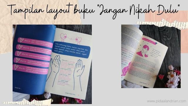 Tampilan layout buku Hanny Dewanti