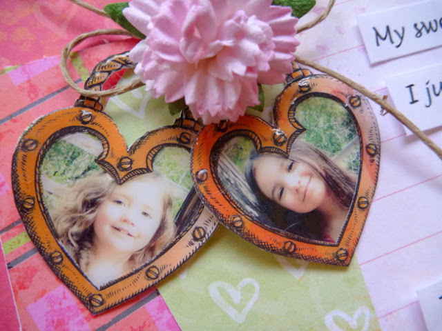 Dimensional Glaze Heart-Shaped Photo Charms by Dana Tatar