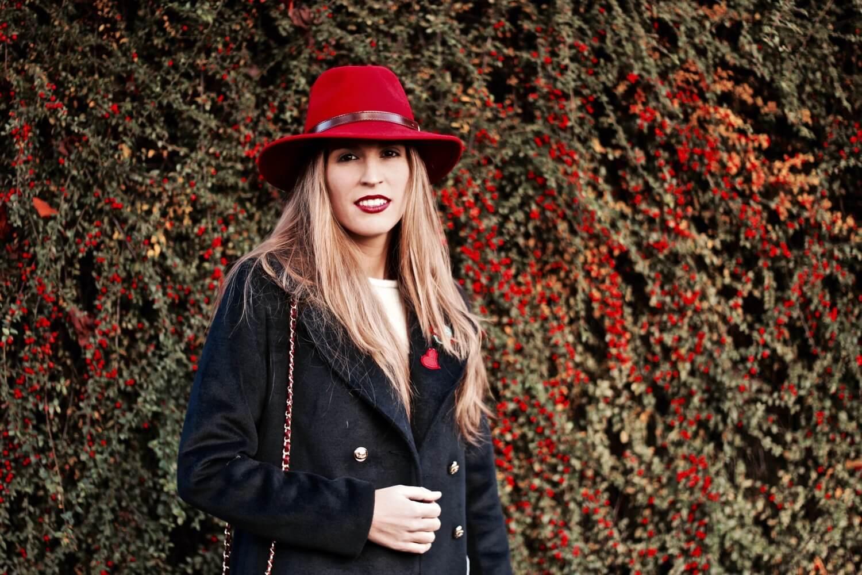 sombreros fedora rojo