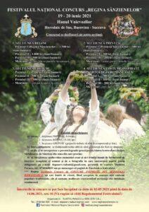 """44  """"ambasadori"""", invitați la Festivalul Național """"Regina Sânzienelor"""",  ediția a VII-a, 19-20 iunie 2021, Bucovina"""