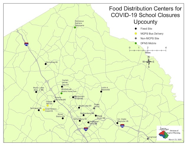 Meal distribution in MCPS