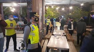 Solid Kapolres Bersama Dandim 1421 Pangkep, Patroli Pantau keamanan malam Pergantian Tahun