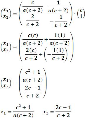 Encontrando la solución de la matriz X