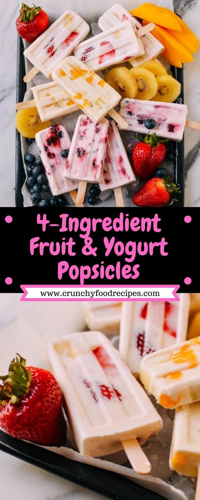 4-Ingredient Fruit & Yogurt Popsicles