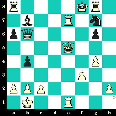 Les Blancs jouent et matent en 2 coups - Michael Adams vs Luis Comas Fabrego, Adelaide, 1988