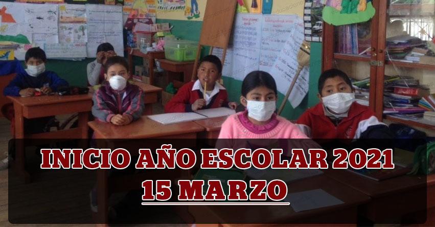MINEDU: Año escolar 2021 se iniciará el 15 de marzo, anunció el Ministro de Educación, Ricardo Cuenca