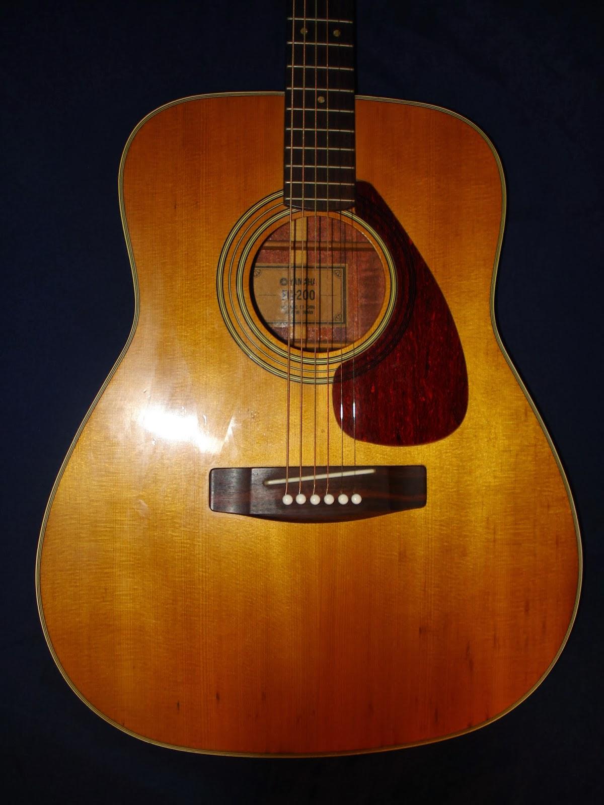 socal gear museum 1974 yamaha fg 200 acoustic guitar. Black Bedroom Furniture Sets. Home Design Ideas
