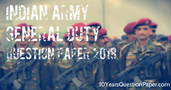 Army Gd Question Paper Pdf