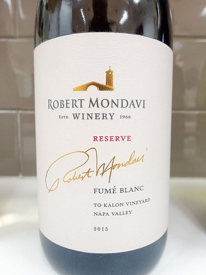 Robert Mondavi To Kalon Vineyard Reserve Fumé Blanc 2015 (93 pts)