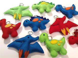 Dinossauros Chaveiros Em Feltro Com Moldes E Passo A Passo Como Faço