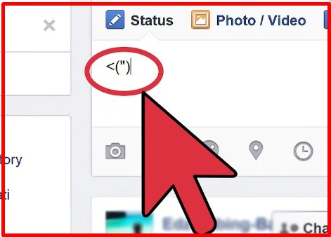 how to make emoticons on facebook using keyboard