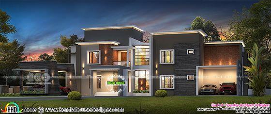 5 BHK ultra modern home plan