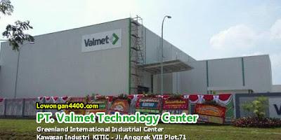 Lowongan Kerja PT. Valmet Technology Center