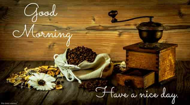 coffee grinder coffee powder wonderful good morning image