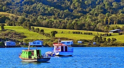 Typical marine view of Chiloe Island.