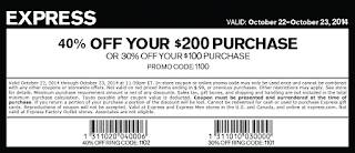 Express coupons february