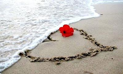 صور البحر ، احلى صور بحار رومانسية مع ورود وقلوب