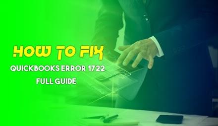 What is QuickBooks error 1722? How to Resolve it?