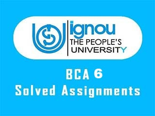 IGNOU BCA 6 Semester Solved Assignments Download