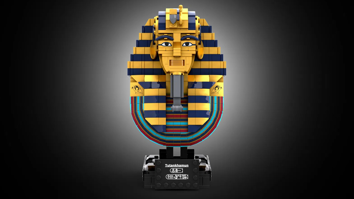 レゴアイデアで『ツタンカーメンのマスク』が製品化レビュー進出!2021年第1回1万サポート獲得デザイン紹介