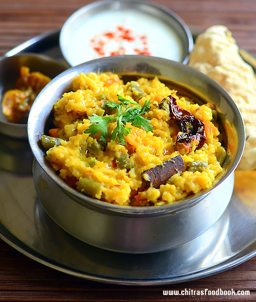Vegetable masala khichdi