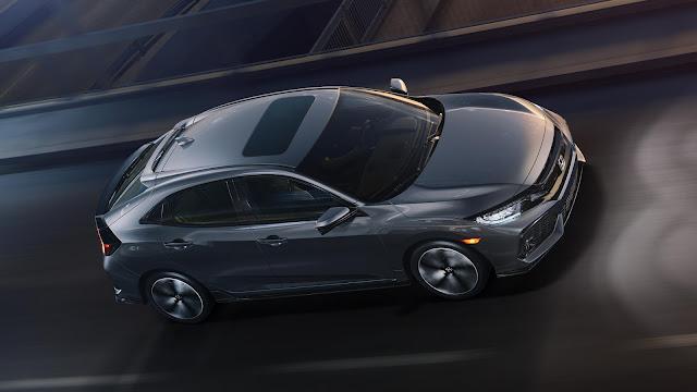 2017 Honda Civic hatchback grey