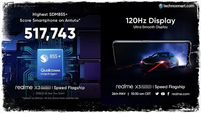 Realme X3 Superzoom Is Said To Feature 120Hz Display and Snapdragon 855+ SoC: Check Specifications, Designs and More
