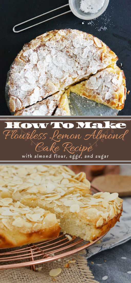 Flourless Lemon Almond Cake #desserts #cakerecipe #chocolate #fingerfood #easy