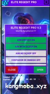 APK MOD Elite Regedit Pro Free Fire Auto Headshot Antiban